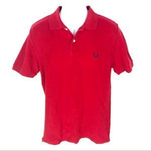Chaps Mens Red Polo Shirt M